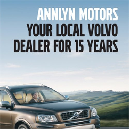 Once, twice, three times a winner for Volvo dealership.