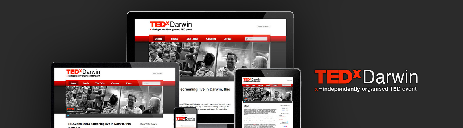 Thomas Marsden Advertising Penrith, Sydney offer great web design and SEO solutions to produce a successful TEDx Darwin brand.